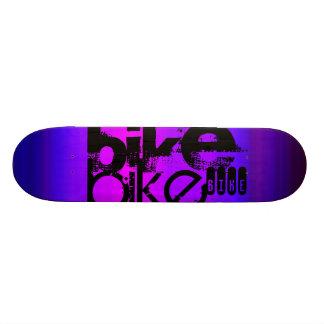 Bike; Vibrant Violet Blue and Magenta Skate Board Decks