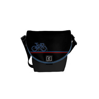 Bike with French-inspired Flag lines Courier Bag