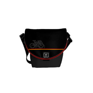Bike with German-inspired Flag lines Commuter Bag