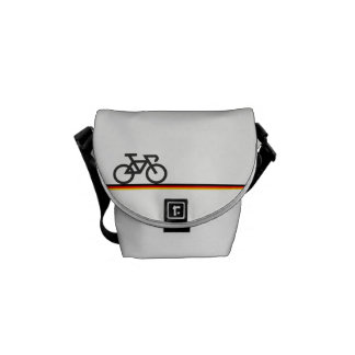 Bike with German-inspired Flag lines Messenger Bag