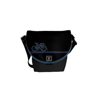 Bike with Netherlands-inspired Flag lines Commuter Bag