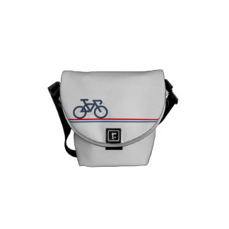 Bike with Netherlands-inspired Flag lines Courier Bags