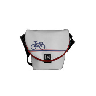 Bike with Norwegian-inspired Flag lines Courier Bag