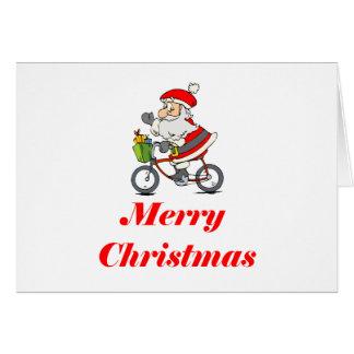 BikeChick Santa Card