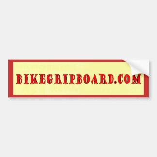 BIKEGRIPBOARD.COM RED BUMPER STICKER