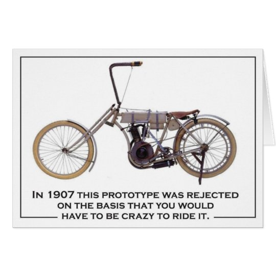 Biker 1907 chopper card