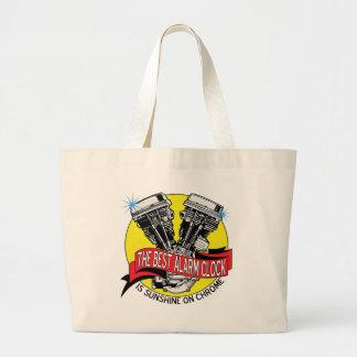 Biker Alarm Clock Tote Bag