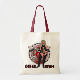 Biker Babe - Budget Tote Tote Bag