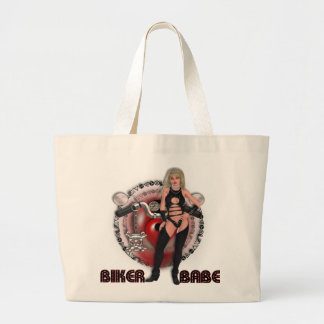 Biker Babe - Jumbo Tote Canvas Bags