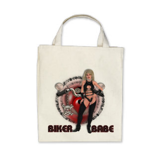 Biker Babe - Organic Grocery Tote Bag