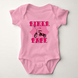 Biker Babe /pink Baby Bodysuit