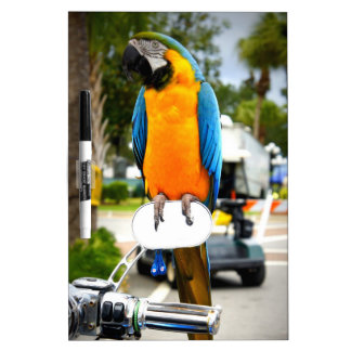 Biker Bird Dry Erase Board