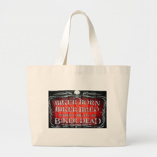 biker born biker bread canvas bags