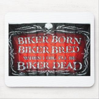 biker born biker bread mouse pad
