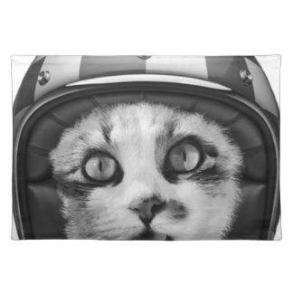 Biker cat T-Shirt Placemat