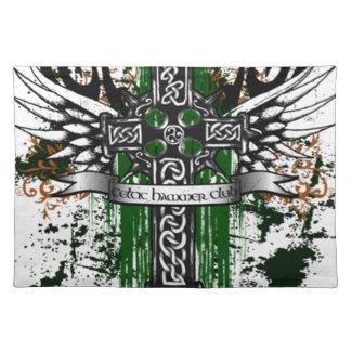 Biker Celtic Cross T-Shirt Placemat