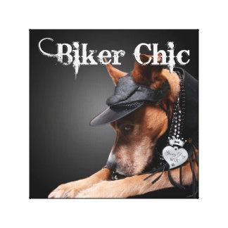"""Biker Chic"" - Canvas Wall Art Print"