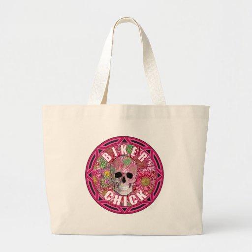 Biker Chick 001 Canvas Bag