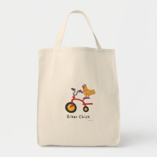 Biker Chick Grocery Bag