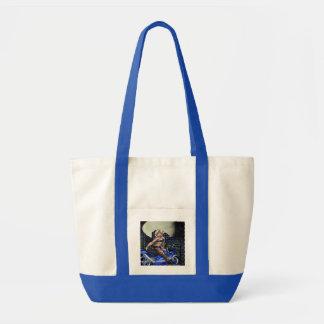 Biker Chick - Impulse Tote Bags