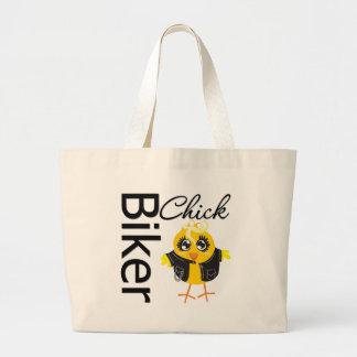 Biker Chick Large Tote Bag