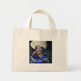 Biker Chick - Tiny Tote Tote Bags