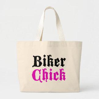 Biker Chick Canvas Bags