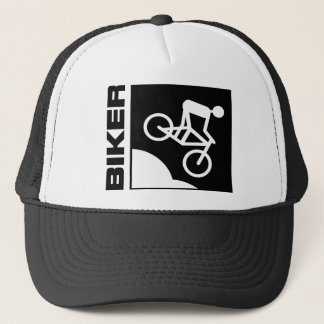 biker cyclist bike mtb mountainbike downhill trucker hat
