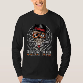 Biker Dad Skull Chain T-Shirt
