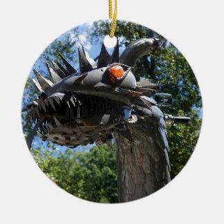 Biker Dragon Ceramic Ornament