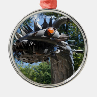 Biker Dragon Metal Ornament