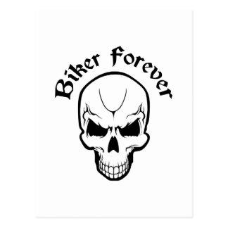 BIKER FOREVER POSTCARD