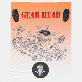 BIKER GEAR HEAD FLEECE BLANKET