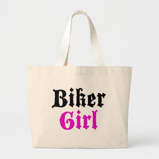 Biker Girl Canvas Bag