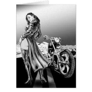 biker girl card