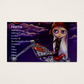 Biker Girl Harley Business Card