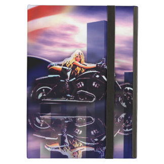 Biker Girl On Harley Davidson Motorcycle iPad Air Case