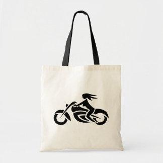 Biker Girl Tote Bag