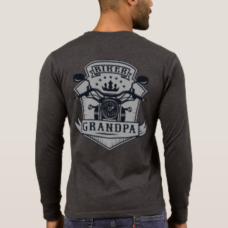 Biker Grandpa Badge Motorcycle Rider T-Shirt