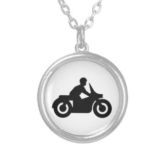BIKER GUY SILVER PLATED NECKLACE