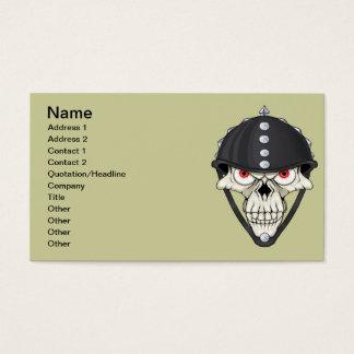 Biker Helmet Skull design for Motorcycle Riders Business Card