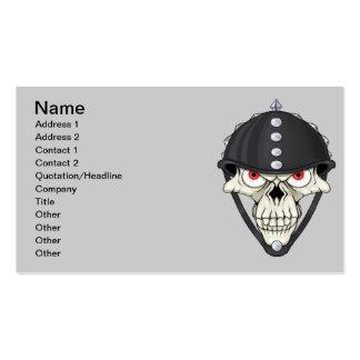 Biker Helmet Skull design for Motorcycle Riders Business Card Templates
