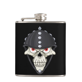 Biker Helmet Skull design for Motorcycle Riders Hip Flask