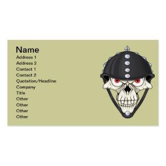 Biker Helmet Skull design for Motorcycle Riders Pack Of Standard Business Cards