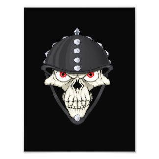 Biker Helmet Skull design for Motorcycle Riders Photograph