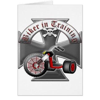 Biker in Training Card