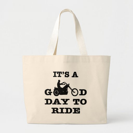 Biker It's A Good Day To Ride Canvas Bags