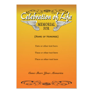 Biker Memorial Invitation