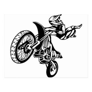 Biker Motorcycle Motocross Postcard