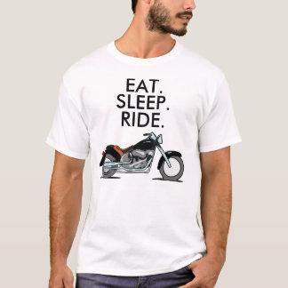 Biker Motorcycle T-shirts, Eat Sleep Ride T-Shirt